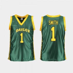 Women's Bears #1 NaLyssa Smith Green Replica College Basketball Jersey 206340-222