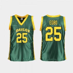 Women's Baylor University #25 Queen Egbo Green Replica College Basketball Jersey 886069-317