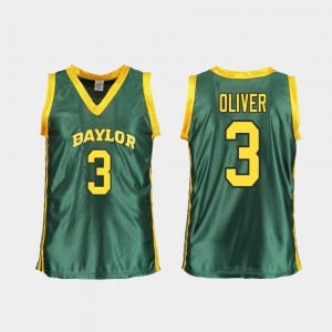 For Women Baylor #3 Trinity Oliver Green Replica College Basketball Jersey 824934-881