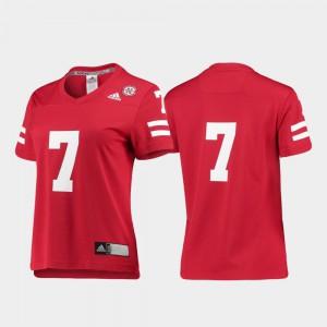 Ladies Cornhuskers #7 Scarlet Replica College Football Jersey 773978-679