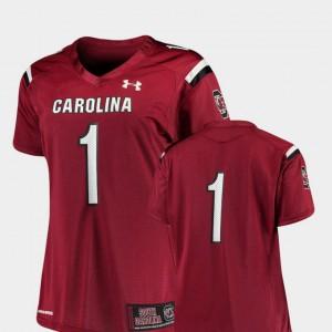 Womens University of South Carolina #1 Garnet College Football Finished Replica Jersey 925099-837