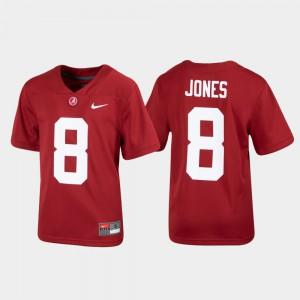 Kids Bama #8 Julio Jones Crimson Replica Alumni Football Jersey 969443-449