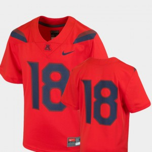 Kids Arizona Wildcats #18 Red College Football Team Replica Jersey 572339-766