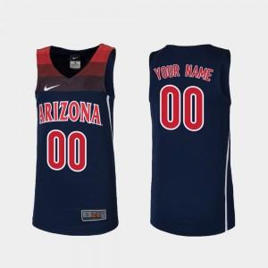 Kids UofA #00 Navy Replica College Basketball Custom Jerseys 418657-137