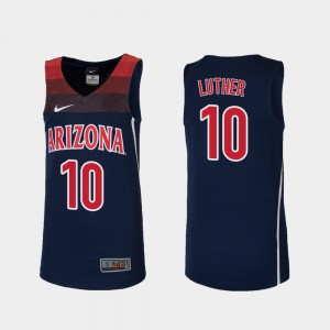 For Kids UofA #10 Ryan Luther Navy Replica College Basketball Jersey 394891-125