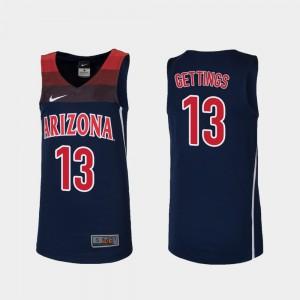 Kids UofA #13 Stone Gettings Navy Replica College Basketball Jersey 338296-987