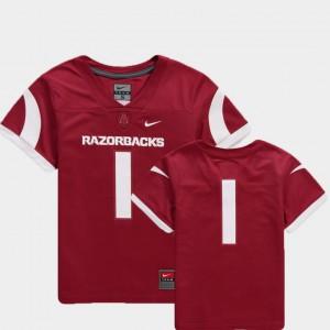 For Kids Arkansas Razorbacks #1 Cardinal College Football Team Replica Jersey 534854-331
