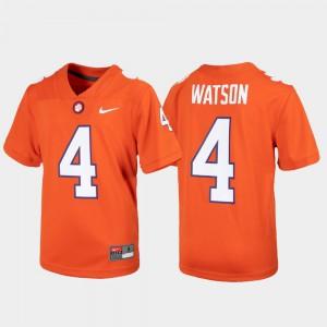 Kids Clemson #4 Deshaun Watson Orange Alumni Football Game Jersey 184553-471