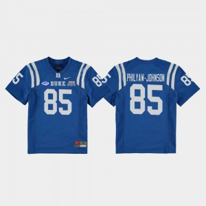 For Kids Blue Devils #85 Damond Philyaw-Johnson Royal 2018 Independence Bowl College Football Game Jersey 467610-460