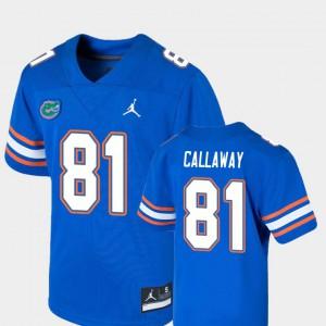 For Kids Florida Gator #81 Antonio Callaway Royal Game College Football Jersey 231406-582