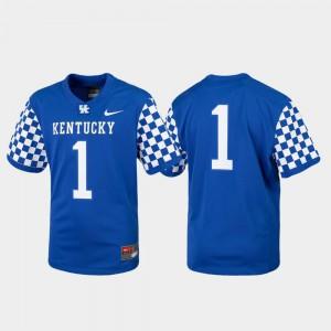 For Kids Kentucky Wildcats #1 Royal Replica College Football Jersey 493630-242