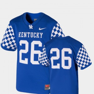 For Kids University of Kentucky #26 Royal College Football Team Replica Jersey 359701-167