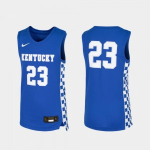 Youth Kentucky Wildcats #23 Royal Replica Basketball Jersey 563795-126