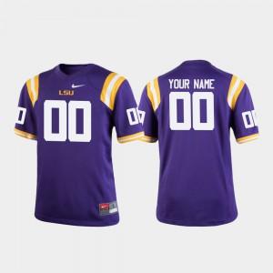 Youth(Kids) Tigers #00 Purple College Football Custom Jerseys 609607-521