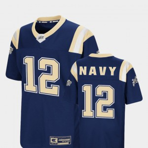 Youth Navy #12 Navy Foos-Ball Football Colosseum Jersey 692757-150