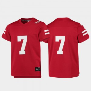 For Kids Cornhuskers #7 Scarlet Replica College Football Jersey 539445-831