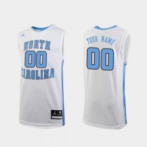 For Kids UNC #00 White Replica College Basketball Custom Jerseys 323122-533