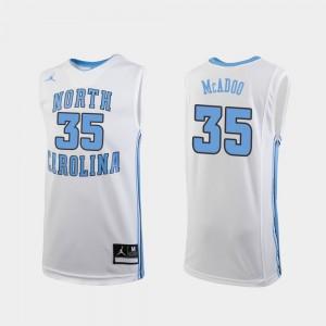 For Kids UNC Tar Heels #35 Ryan McAdoo White Replica College Basketball Jersey 680108-958
