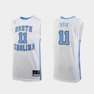 Youth(Kids) Tar Heels #11 Shea Rush White Replica College Basketball Jersey 574692-383