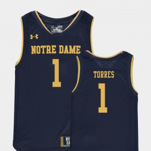 Kids Notre Dame #1 Austin Torres Navy Replica College Basketball Special Games Jersey 643904-414