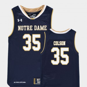 Youth Notre Dame #35 Bonzie Colson Navy Replica College Basketball Jersey 655808-876