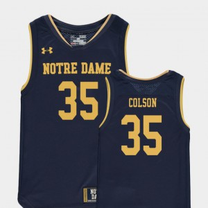 For Kids Notre Dame Fighting Irish #35 Bonzie Colson Navy Replica College Basketball Special Games Jersey 488181-433