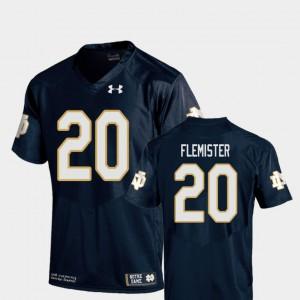 Youth(Kids) Notre Dame Fighting Irish #20 C'Bo Flemister Navy College Football Replica Jersey 224213-333