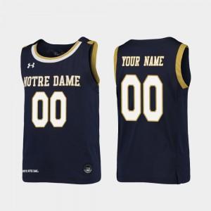 Youth UND #00 Navy Replica College Basketball Customized Jerseys 909025-665