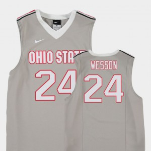 Youth Ohio State Buckeyes #24 Andre Wesson Gray Replica College Basketball Jersey 484790-508