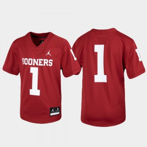 Youth(Kids) OU #1 Crimson Untouchable Football Jersey 612956-626