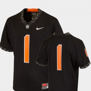 Youth Oklahoma State #1 Black College Football Team Replica Jersey 541941-896