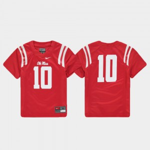 For Kids Rebels #10 Red Replica Football Jersey 171408-819