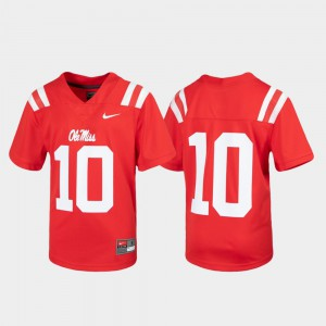 Youth Ole Miss Rebels #10 Red Untouchable Football Jersey 630343-265