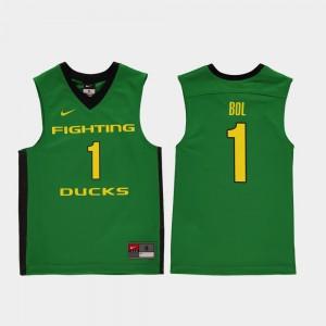 Kids Ducks #1 Bol Bol Green Replica College Basketball Jersey 660594-555