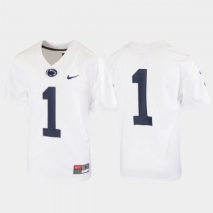 Kids Nittany Lions #1 White Untouchable Football Jersey 757342-568