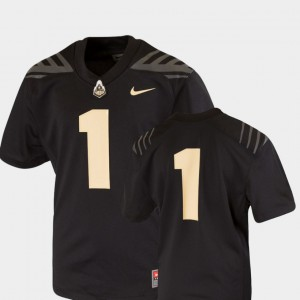 Youth(Kids) Boilermaker #1 Black College Football Team Replica Jersey 194087-609