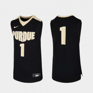 Youth Purdue #1 Black Replica College Basketball Jersey 380474-856