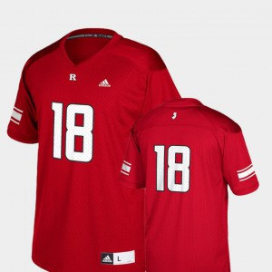 For Kids Rutgers Scarlet Knights #18 Scarlet College Football Replica Jersey 444881-122