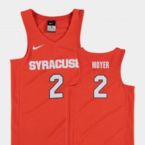 For Kids Syracuse #2 Matthew Moyer Orange Replica College Basketball Jersey 434501-964