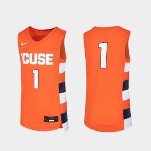 For Kids Orange #1 Orange Replica Basketball Jersey 277444-935