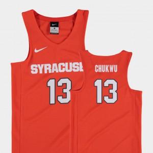For Kids Syracuse Orange #13 Paschal Chukwu Orange Replica College Basketball Jersey 439896-684
