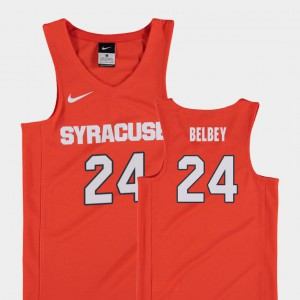Kids Syracuse University #24 Shaun Belbey Orange Replica College Basketball Jersey 634508-137