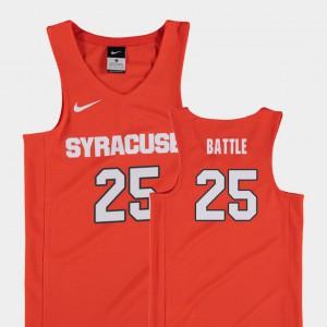 Youth(Kids) Orange #25 Tyus Battle Orange Replica College Basketball Jersey 471095-409