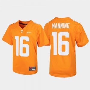 For Kids UT VOLS #16 Peyton Manning Tennessee Orange Alumni Football Game Jersey 205247-166