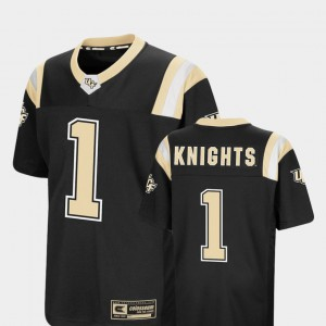 Youth UCF Knights #1 Black Foos-Ball Football Colosseum Jersey 919799-285