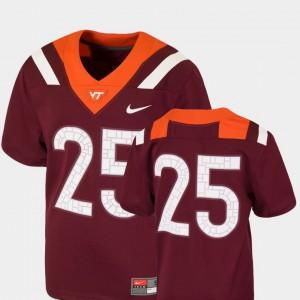 Kids Virginia Tech #25 Maroon College Football Team Replica Jersey 456477-592
