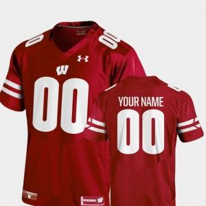For Kids Badgers #00 Red College Football 2018 Replica Custom Jersey 533187-605